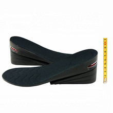 Aumento de la cautela 8 cm PU 4 Capas Más Altos de Altura De Colchón de Aire aumento de Zapatos Ascensor Almohadilla Plantillas Ascensores Insertos Para hombres y mujeres