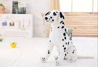 large 45cm squatting DALMATIAN dog plush toy birthday gift b0589