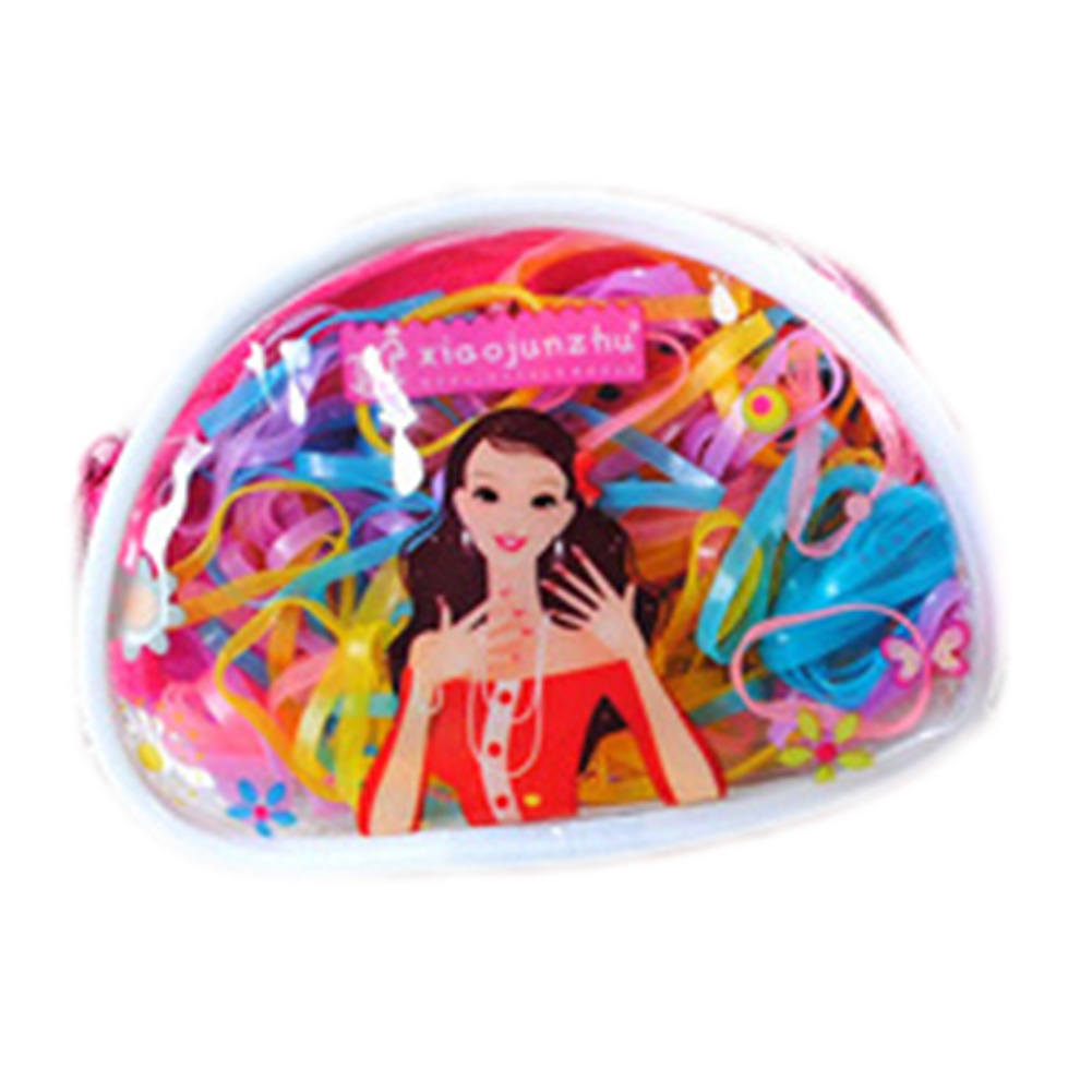 One Pack Rubber Rope Ponytail Hair Elastic Holders Rubber Band Ties Braids Plaits headband hair clips Hair Accessories