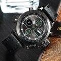 Мужской Мода Спорт Военная Наручные Часы 2016 Новый AMUDA Часы Мужчины Люксовый Бренд 5ATM 50 м Dive СВЕТОДИОДНЫЙ Цифровой Аналоговый Кварц часы