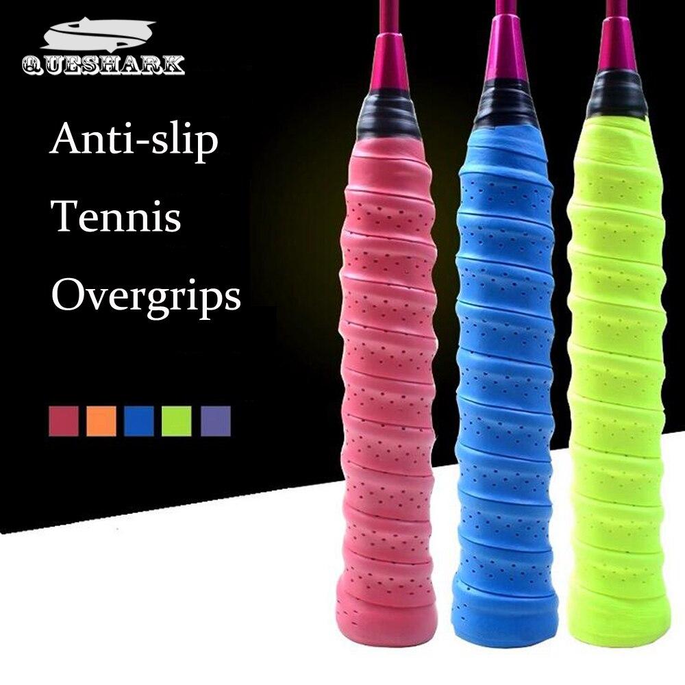 10 pcs/lot Anti-slip Respirant Sport Plus Grip Griffband De Tennis Surgrip Bande Badminton Raquette Poignées Cannes À Pêche Bandeau