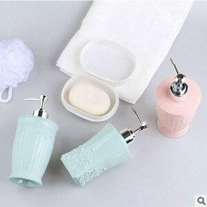 Image 5 - 400ML אירופאי סגנון מגולף מקלחת ג ל מחולק ריק בקבוק יד Sanitizer מפה Dispenser שרף סבון תחליב לחץ בקבוקים