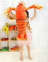 Free Shipping 110cm Simulation Red Lobster Creative Plush Toy Pillow Home Decor Child Birthday Gift 1