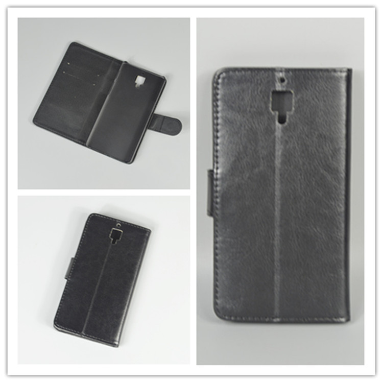 Crystal grain wallet case hold two Cards with 2 Card Holder and pouch slot For One plus Three A3000 Oneplus 3 Case 5.5inch