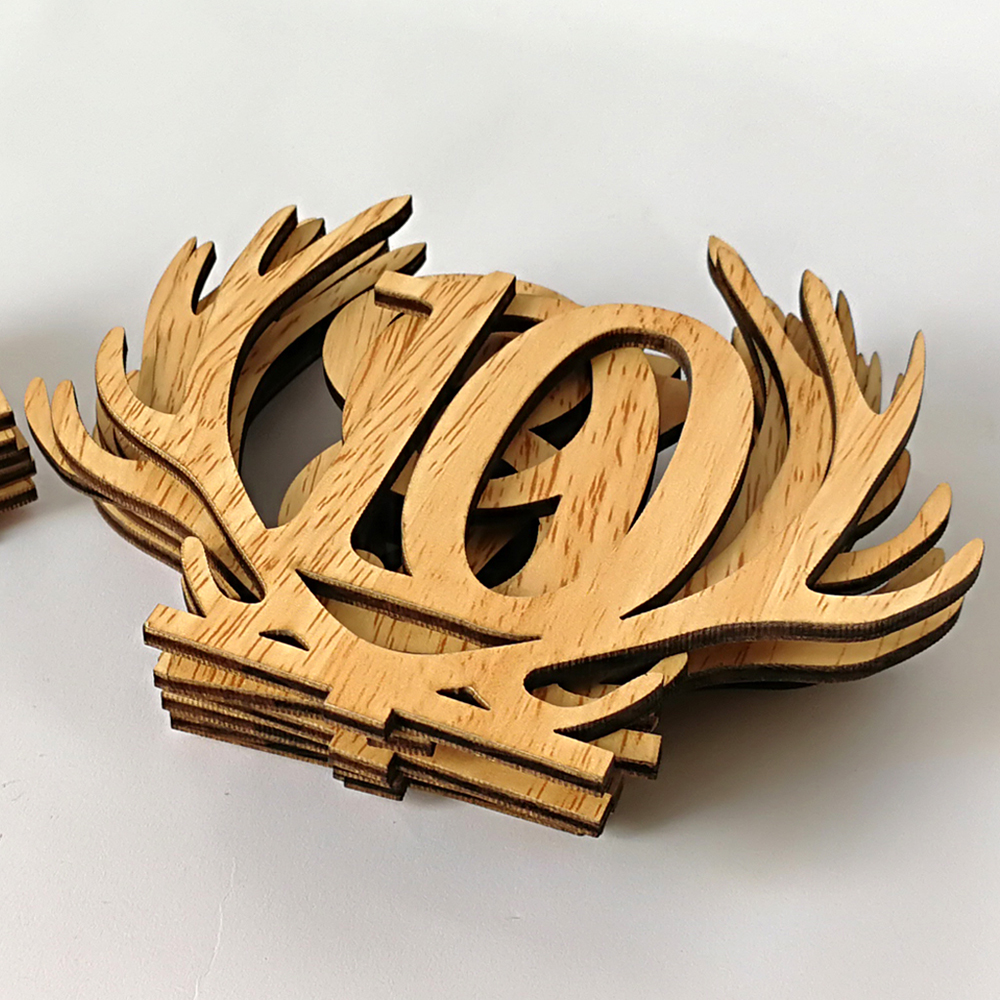 1 20 Wooden Antler Table Numbers Weddings Decoration Sign Hollow ...