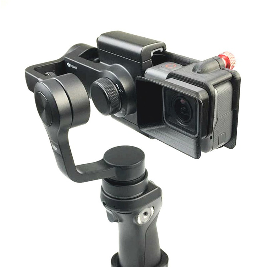 DJI OSMO Mobile Handheld Gimbal Turn Switch Mount Plate Camera Lens Sun Shade Hood for Gopro hero 5 DJI OSMO Z1-Smooth Zhiyun 2