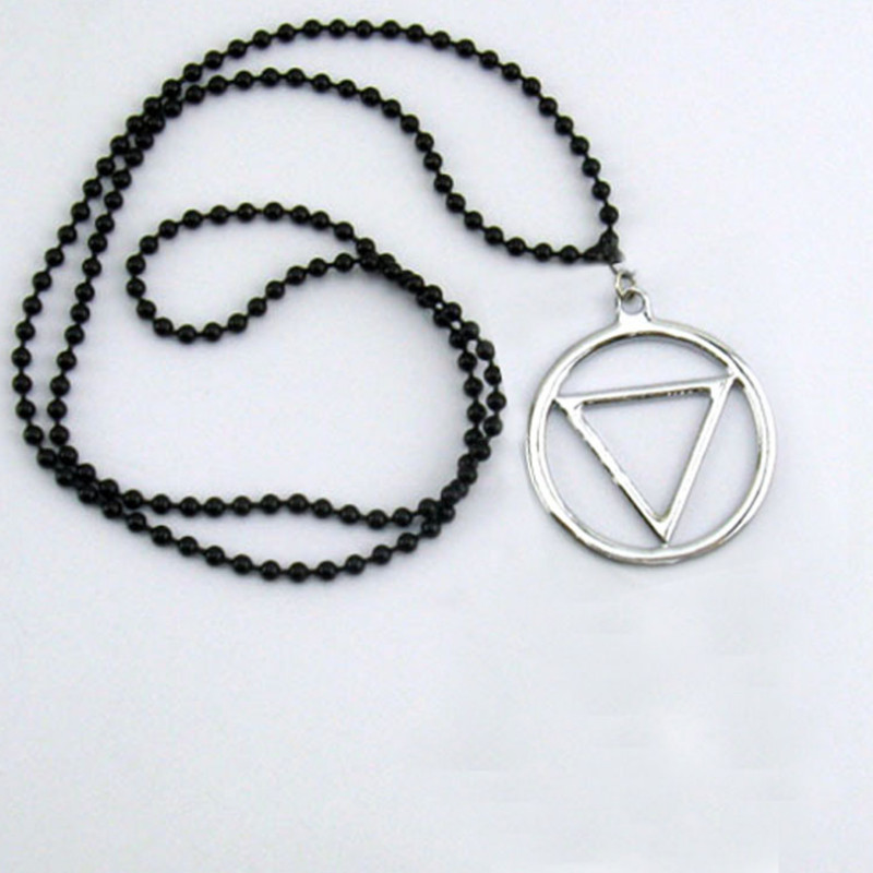 Naruto Akatsuki Pendant necklace Cosplay Hidan Prop back necklace Cos Anime Pendant in Costume Props from Novelty Special Use