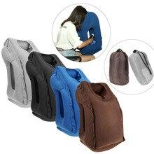 Надувная подушка для путешествий и офиса, надувная мягкая подушка для путешествий, портативная инновационная Подушка для спины, складная подушка для защиты шеи