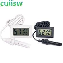 Мини ЖК-цифровой термометр гигрометр Температура Крытый удобный датчик температуры измеритель влажности Калибр инструменты кабель