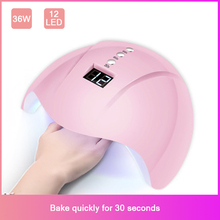 Nail Dryer For LED UV Lamp 36W MINI USB Manicure LCD Display Drying All Gels Polish Art Tools