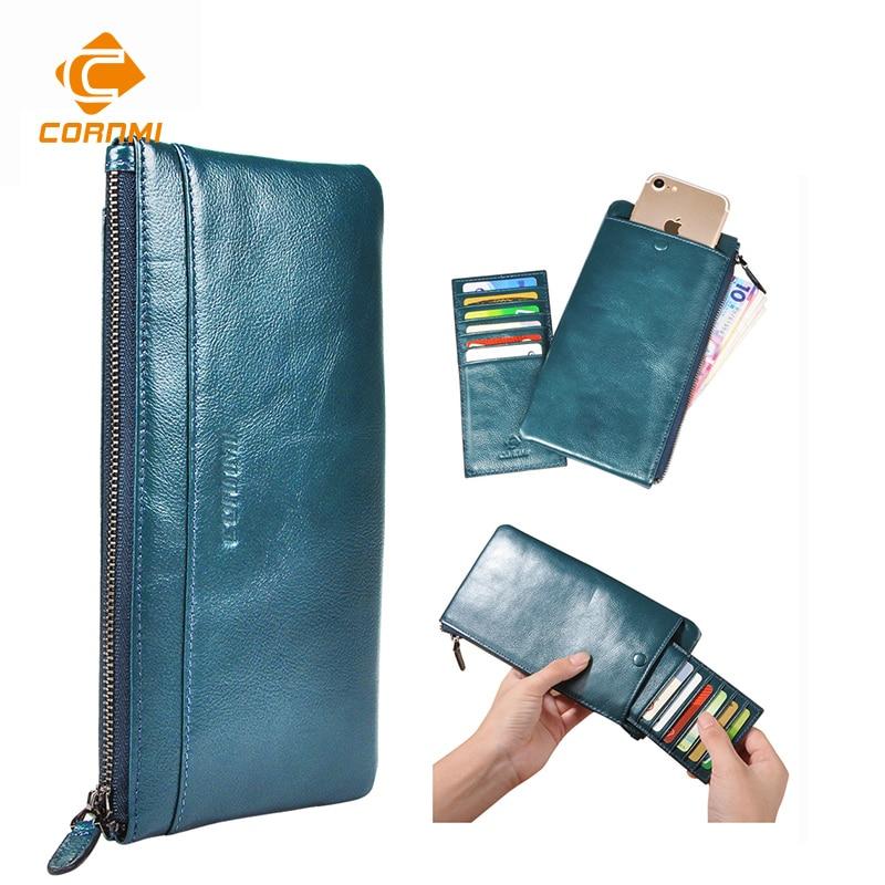 imágenes para Monedero de la bolsa para iphone 7 7 plus 5 se 6 6 s plus case para samsung j5 s7 s6 edge hombres carteira carteras de cuero genuino universal