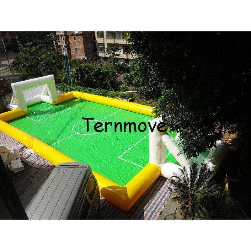 Arena de fútbol deportiva inflable, campo de fútbol inflable para Parque, gimnasio, evento de jardín en casa, campo de fútbol inflable