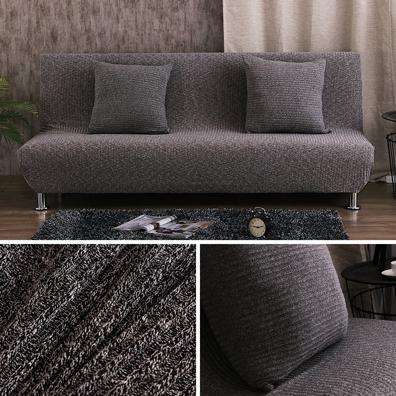 Melange knitting sofa bed cover slipcovers stretch seat