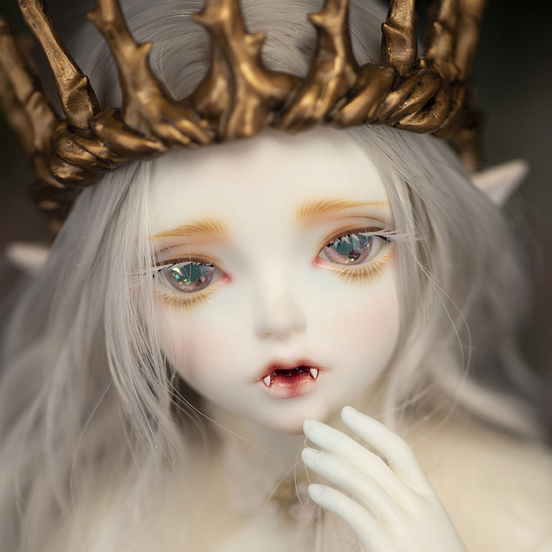 Free Shipping Minifee Hwayu Vampire ELF BJD Doll 1 4 Sunshine Girl Thick Lips Love Smile