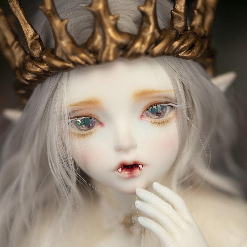 Free Shipping Minifee Hwayu Vampire ELF BJD Doll 1/4 Sunshine Girl Thick Lips Love Smile Pretty Toy For Girls Fairyland MNF