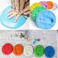 Secagem bebê Argila Mole Para Inkpad Handprint Pegada Imprint Fundição Kit
