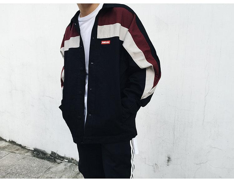 Color Block Coaches Jackets 1