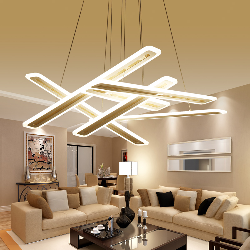 Free shipping modern led pendant lights for dining room living room Rectangle Acrylic led pendant lamp fixture lamparas modernas free shipping modern dining table designs discount lamp shades