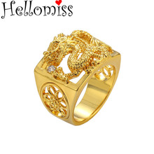 Bague Homme African Gold Color Rings for Men Wedding Party Jewelry Accessories Huge Dragon Ring Bijoux Gifts