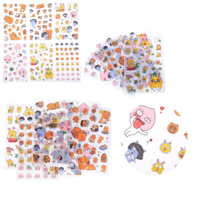 6Pcs Ryan Theme PVC Sticker Puppet Cocoa Lovely For Laptop Skateboard Waterproof Sticker Scrapbook Craft Decor