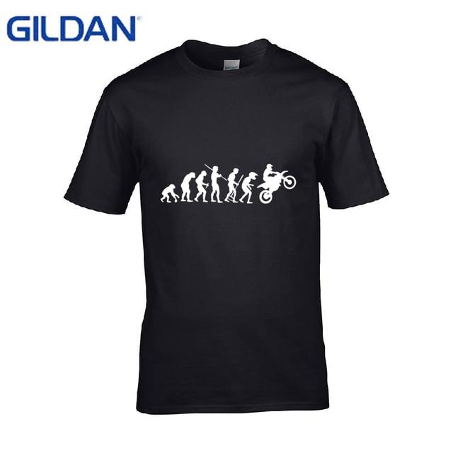 dbca37e5 Costume men tshirt fashion Motorcycle Rider Evolution Moto Cross Premium  men's t shirt organic cotton