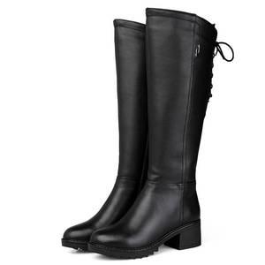 Image 3 - MORAZORA bottes de neige pour femmes, en cuir véritable, bottines hautes, chaudes et naturelles, bout rond, hiver, 2020