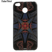 Tobethird Redmi 4X Case Embossed Printing Pattern Silicone TPU Mobile Back Cover Case Accessory For Xiaomi