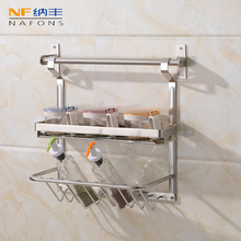 304 Stainless Steel kitchen rack wall Kitchen Shelf, DIY Holder Organizer