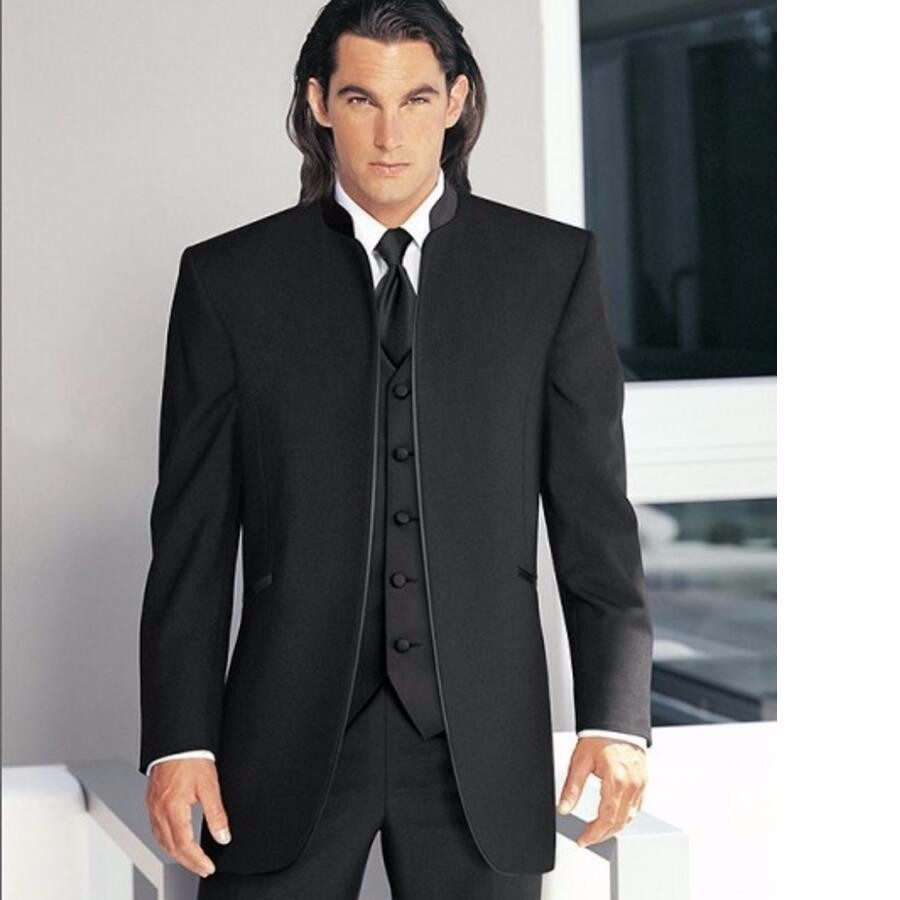 20.1 Custom Made Groom Tuxedo china Styles Groomsmen New Arrival Wedding Dinner Suits Best Man Bridegroom (Jacket+Pants+Tie+Vest)