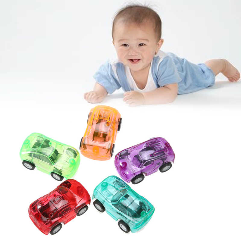 5pcs/Set Colored Children Pull Back Cars Plastic Cute Toy Vehicle Cars Child Wheels Mini Car Model Toys For Boys Birthday Gift