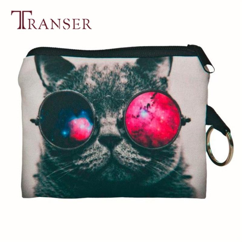 TRANSER New Fashion Girl printing Coins Change Purse Clutch Zipper Wallet phone Key Bags Bolsas Cute Card Holder Zipper Aug21