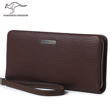 Kangaroo Kingdom Famous Brand Men Wallets Vintage Clutch Wallet Genuine Leather Purse