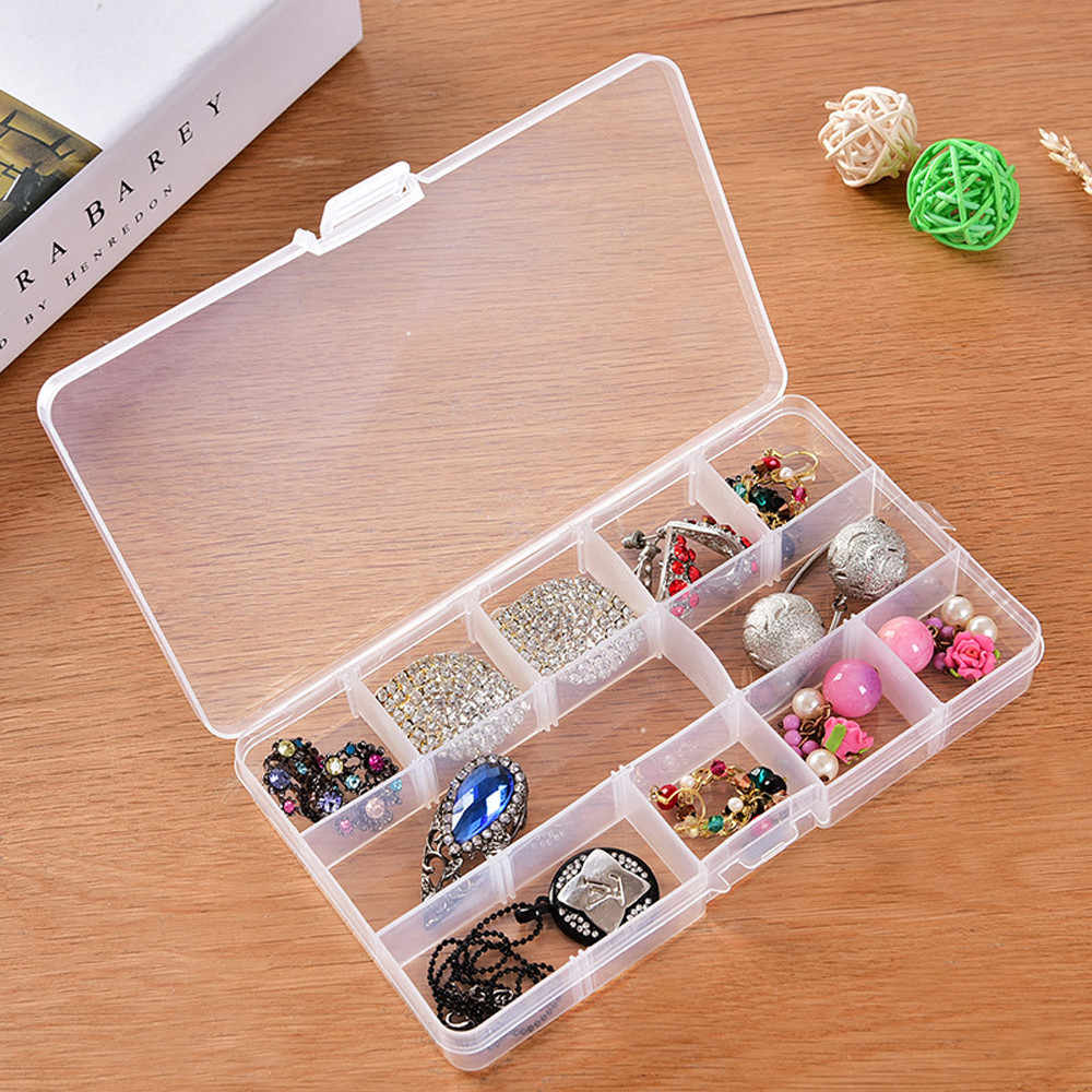 3 Sizes New Empty Storage Container Box Case for Nail Art Tips Rhinestone Gems Dec4