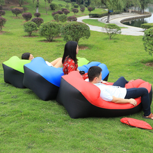 2017 update Fast Inflatable Lazy bag Air Sleeping Bag Camping Portable Air Sofa Beach Bed Air Hammock Nylon Banana Sofa Lounger