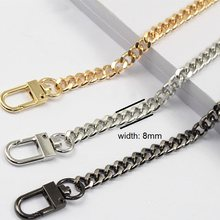 Free shipping DIY bag strap chain Wallet handle purse metal strap chain strap replaced bag strap bag spare parts(China)
