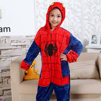 New Kids Spiderman Pyjama Onesie Sleepwear Baby Boys Girls Autumn Winter Children Animal Funny Animal Stitch