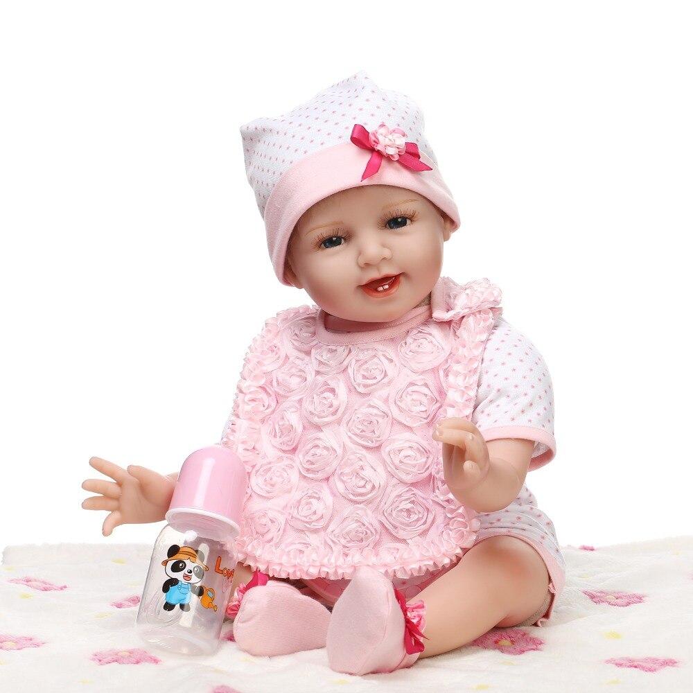 22 Inches Reborn Babies Real Pasgeboren Baby Gezicht Zachte Siliconen Vinyl Poppen Kids Speelgoed Met Magneet Fopspeen Bonecas Reborn Kortingen Prijs