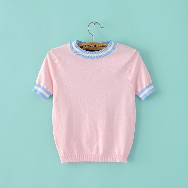 HTB1veBALXXXXXaZXpXXq6xXFXXXt - Women Knitted Crop Tops O-neck Short Sleeve Sweaters Sexy Streetwear PTC 245