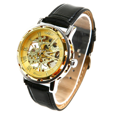 Winner Mens - self-winding mechanical watch - leather bracel