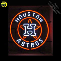 Neon Signs for Sports Houston Team Neon Light Sign Astros Handcrafted Neon Bulb Glass Tube Decorate Room Wall Signs dropshipping