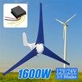 Hot 1600 W 12/24 V Controlador de Vento para Gerador de Turbina 3/5 Lâminas de Vento OptionWind Fit Presente para Casa + saco de acessórios de montagem