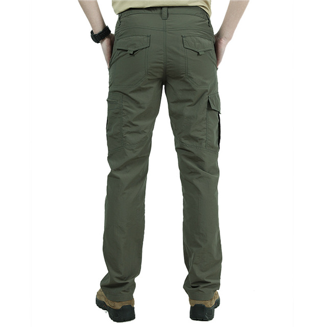 Men's Military Style Cargo Pants Men Summer Waterproof Breathable Male Trousers 2
