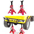 2PCS RC Crawler 1:10 Accessories Metal Jack Stand Repairing Tool for Axial SCX10 Tamiya CC01 RC4WD D90 D110 TF2 RC Car Truck