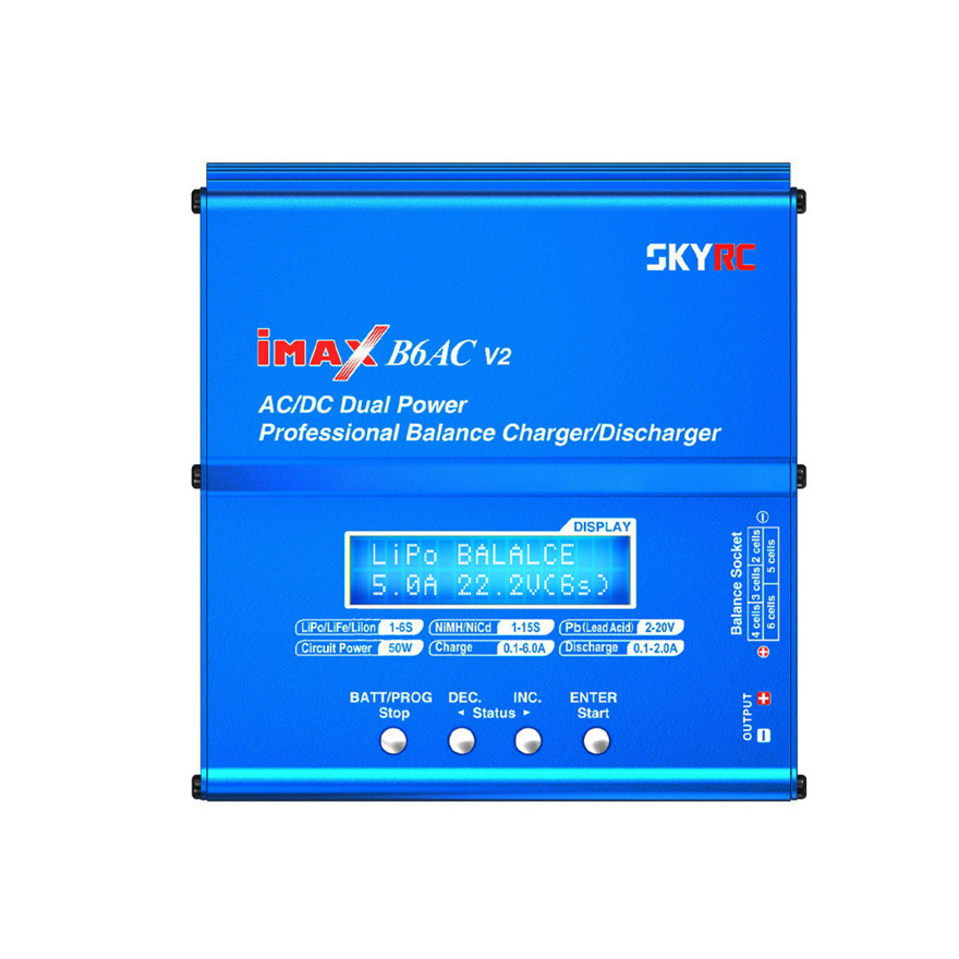 High Quality iMAX B6AC V2 6A Balance Charger LCD Display Discharger for RC Battery skyrc d200 intelligent twin channel lcd ac dc high power dual balance charger discharger with soldering iron
