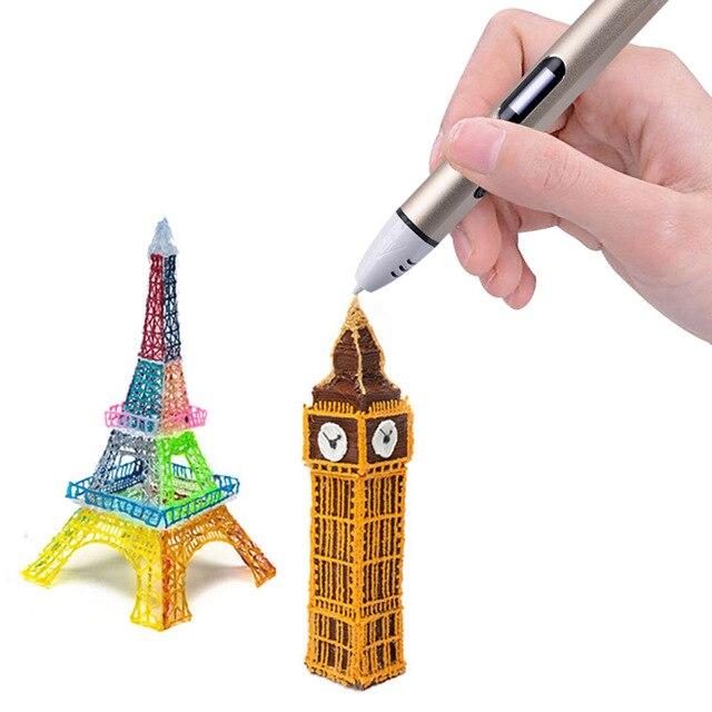 Neue 4 Farbe 3D Druck Stift Mit Freies Filament 3D Stift Beste ...