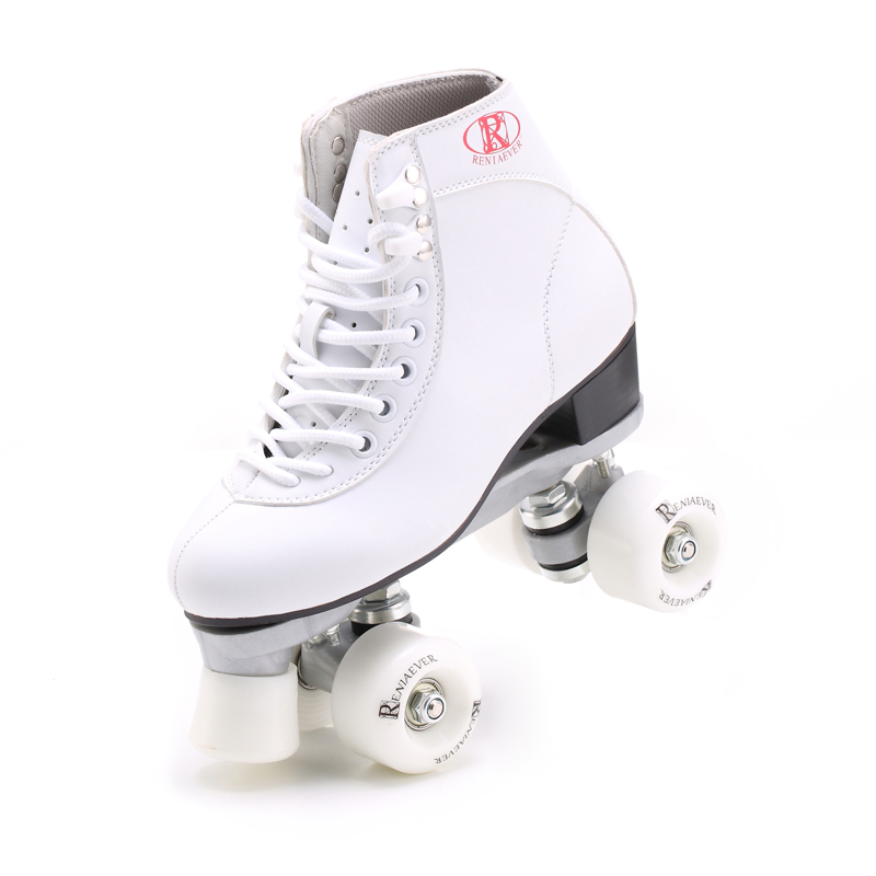Gift RENIAEVER, double row skating shoes white shoes 4 color white wheels wine red pink black wheels skates aluminum alloy base видеоигра бука saints row iv re elected