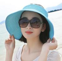 Fast Shipping Tui Guangjieshao Style NO The Summer Sun Hat Simple Leisure Hat Edge Folding