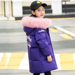 New Winter Girls/Boys Down Jackets Baby Kids Long Sections Down Coats Thick Duck Down Warm Jacket Children Outerwears -30degree
