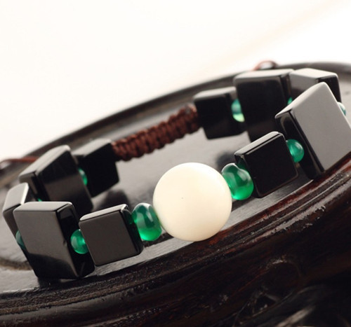 New Black And White Classic Fashion Jewelry Agate Bracelets Elegant Gift For Women Drop Shipping 0116