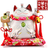 Family Carnival Oversized Japanese Lucky Cat Decoration Lucky Cat Ceramics Venture Home
